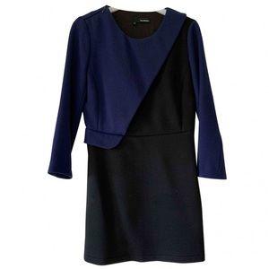 The Kooples contrast knit peplum dress sz 38